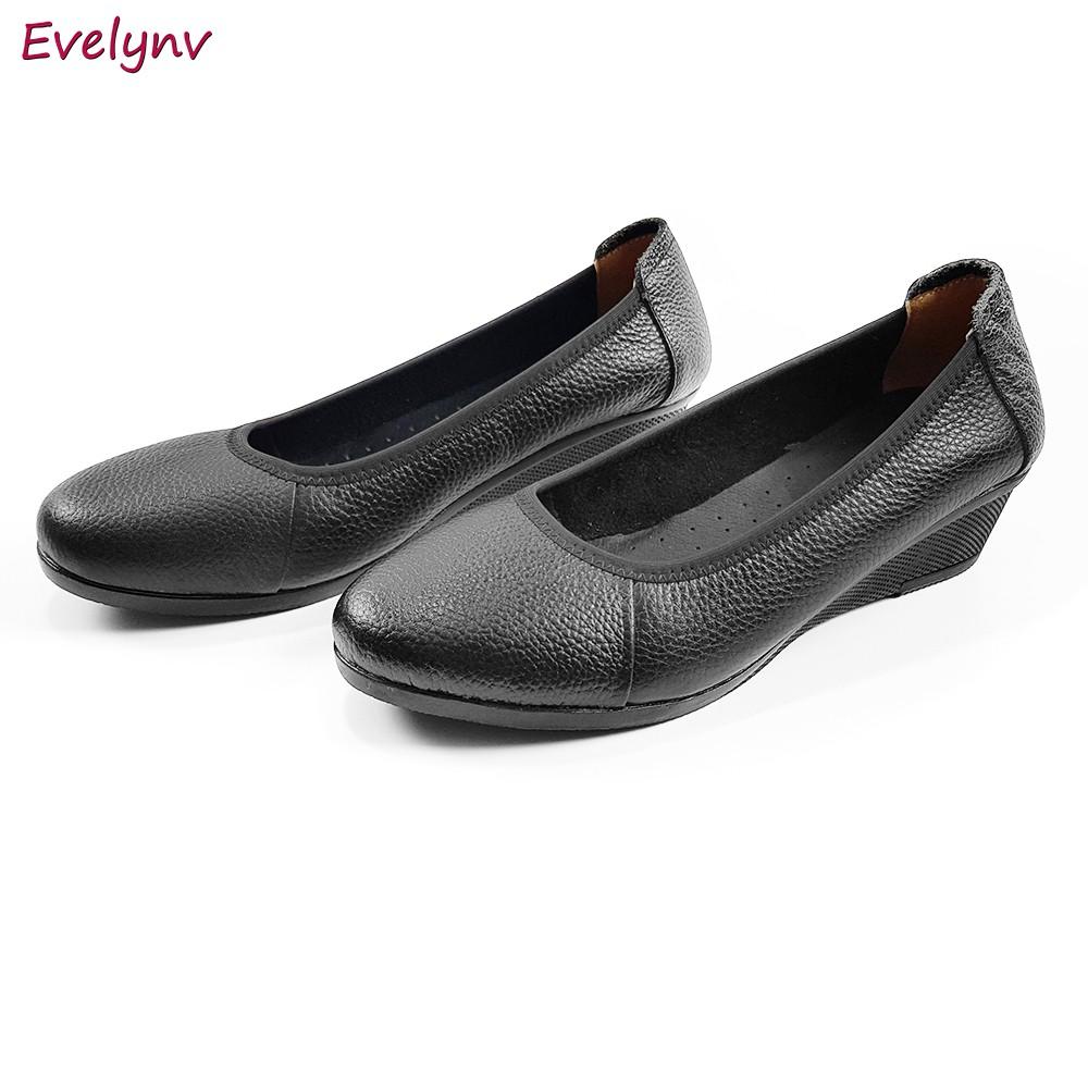 Giày Đế Xuồng Giày Cao Gót 3cm Evelynv 3P2116 (Đen) 2