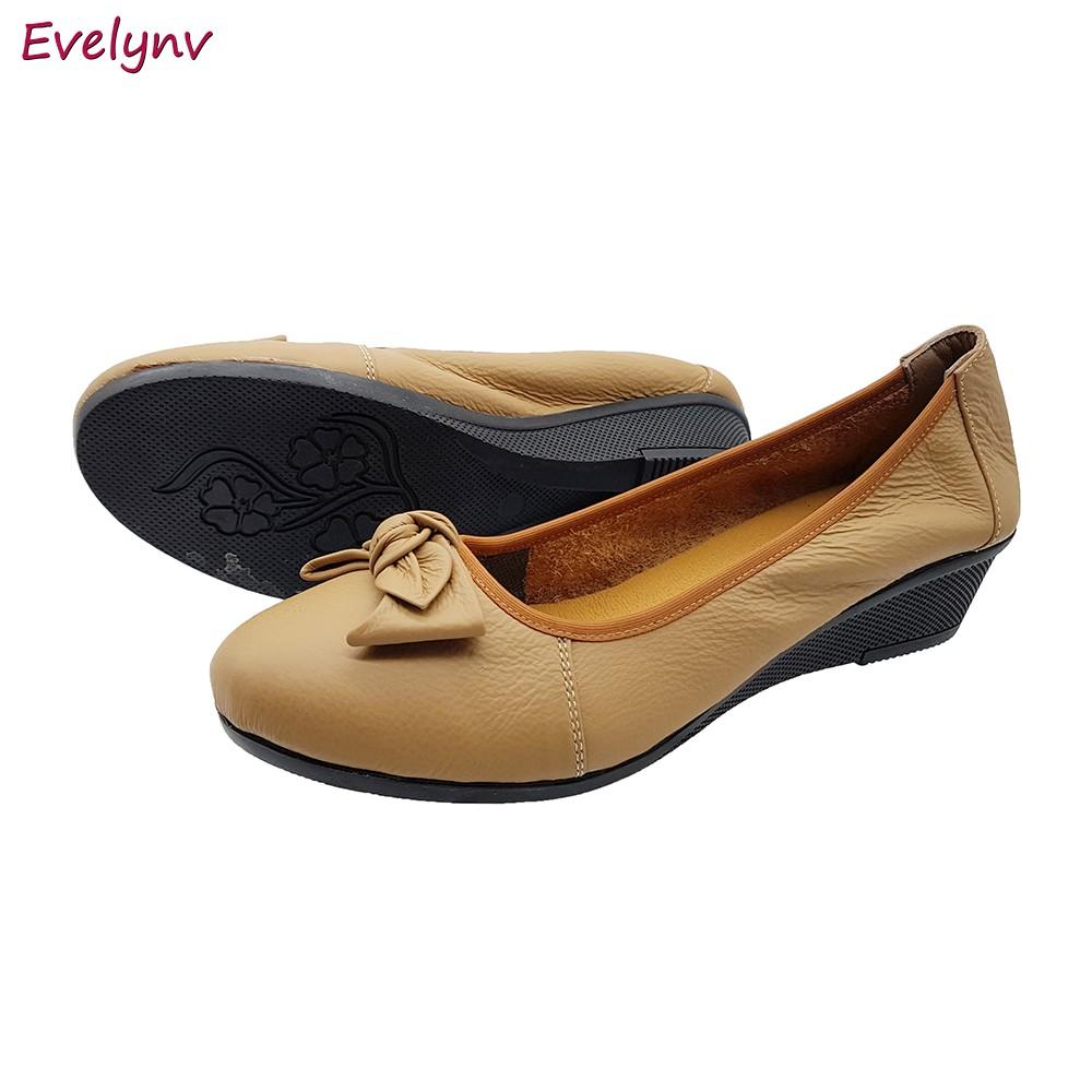 Giày Đế Xuồng Giày Cao Gót 3cm Evelynv 3P0316 (Đen - Kem) 6