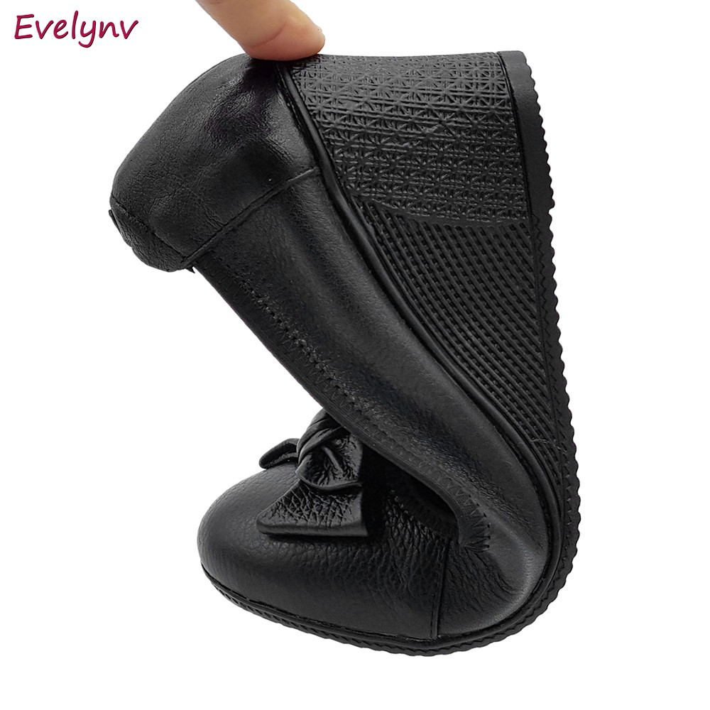 Giày Đế Xuồng Giày Cao Gót 5cm Evelynv 5P0116 (Đen - Kem) 5