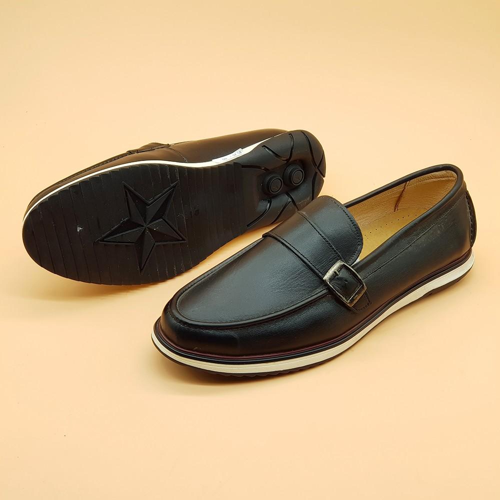Giày Lười Nam Đế Mềm Ensado 162516 (Đen) 3
