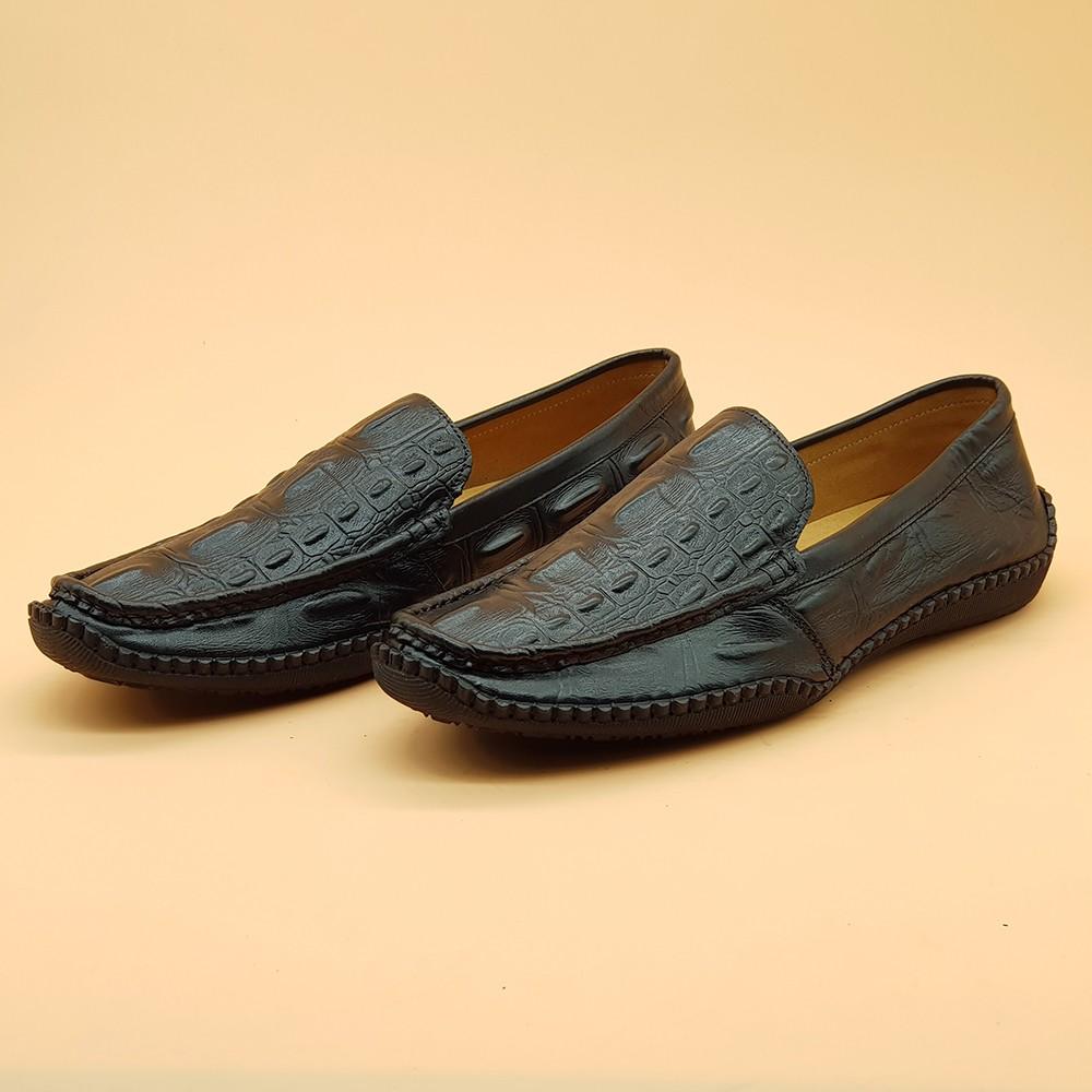 Giày Lười Nam Đế Mềm Ensado 163016 (Đen) 2