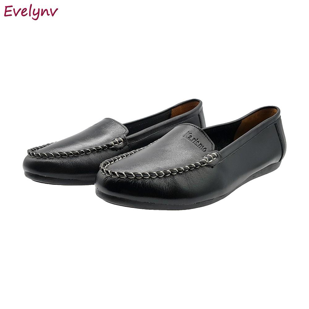 Giày Mọi Nữ Giày Lười Nữ Evelynv GB1516 (Đen) 4