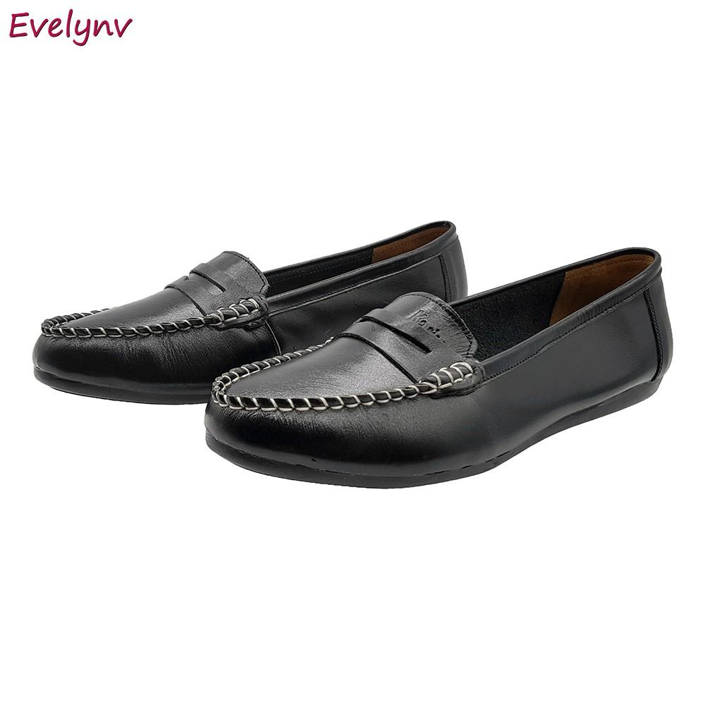 Giày Lười Nữ Giày Mọi Nữ Evelynv GB1616 (Đen) 2