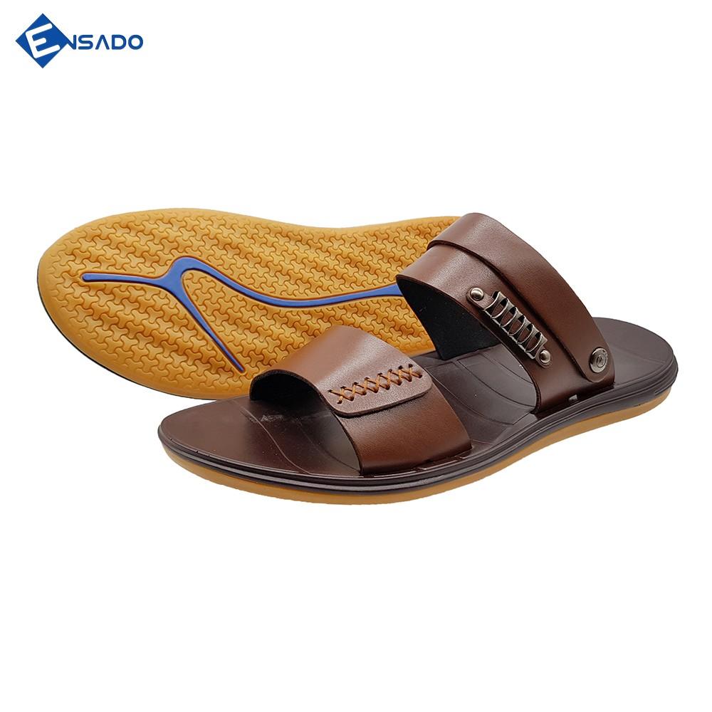 Giày Sandal Nam Dép Quai Hậu Nam Ensado DE0716 (Đen - Nâu) 4