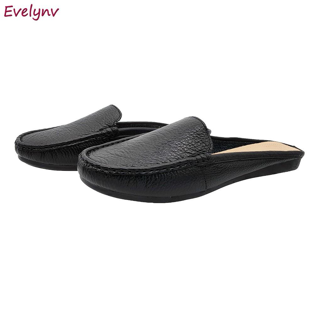 Giày Sục Nữ Đế Bằng Evelynv GB2516 (Đen) 2