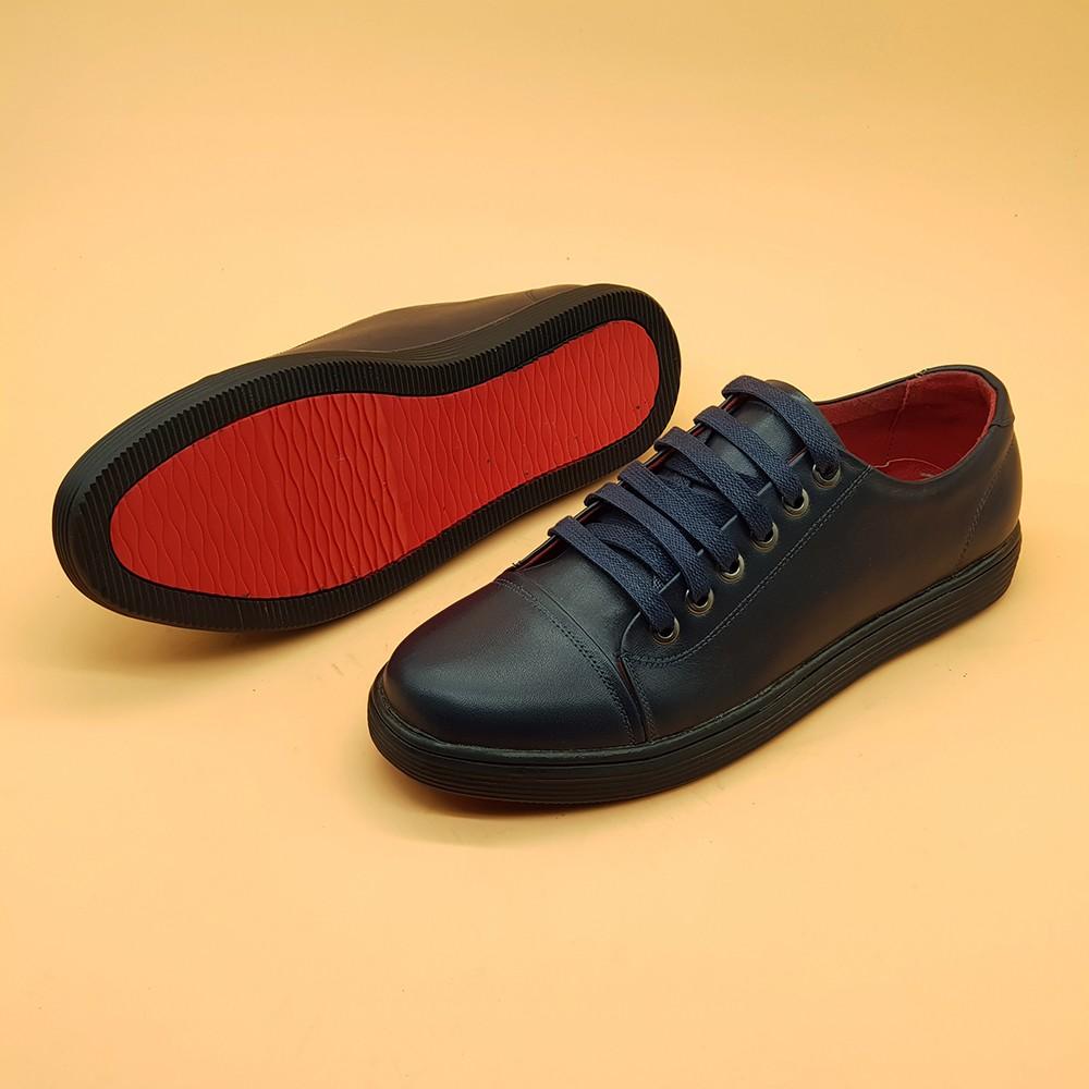 Giày Sneaker Nam Da Bò Tấm Ensado 163816 (Xanh) 3