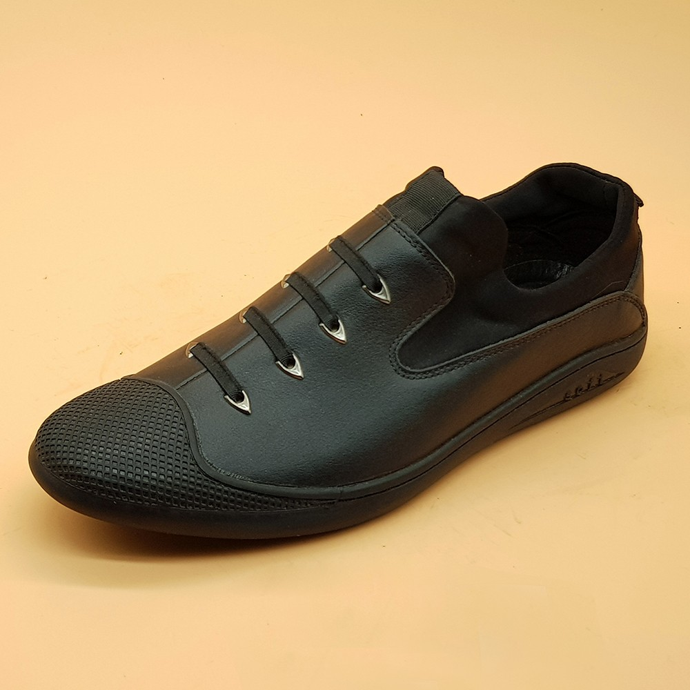 Giày Sneaker Nam Da Bò Tấm Ensado 164016 (Đen) 4