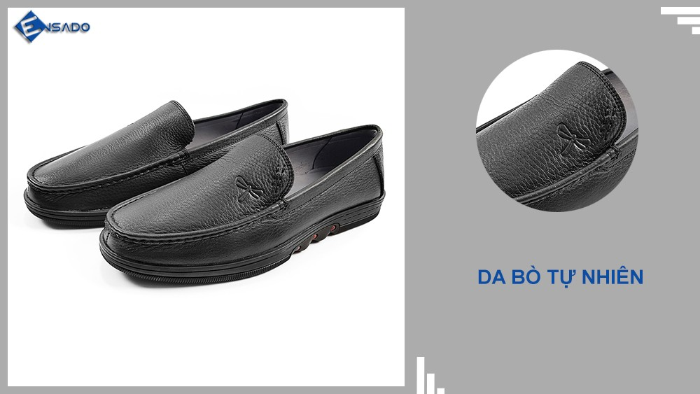 Sản phẩm Giày Lười Nam GL2316 được làm từ da bò mềm mại