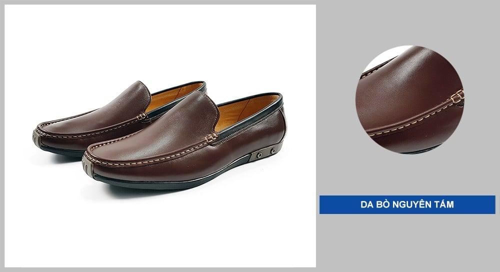 Sản phẩm Giày Mọi Nam GM3216 được làm từ da bò mềm mại