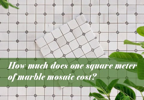 How much does one square meter of marble mosaic cost?