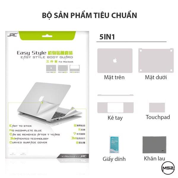 Bộ dán Full Macbook cao cấp JRC 5in1