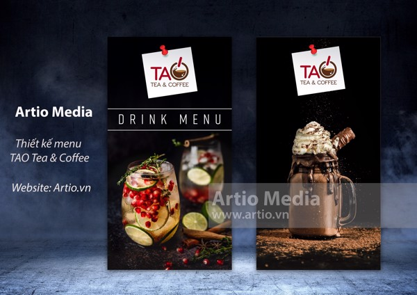 Menu TAO Tea & Coffee | Artio Việt Nam