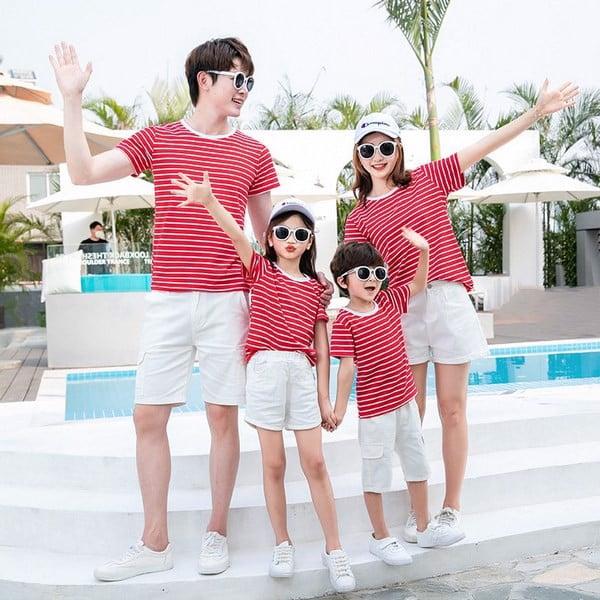 Áo gia đình mùa hè may chất liệu vải nào thì tốt?