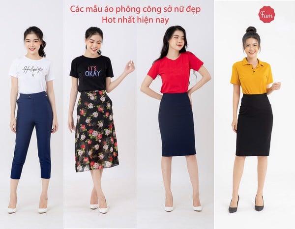 Các mẫu áo công sở nữ đẹp hot nhất hiện nay