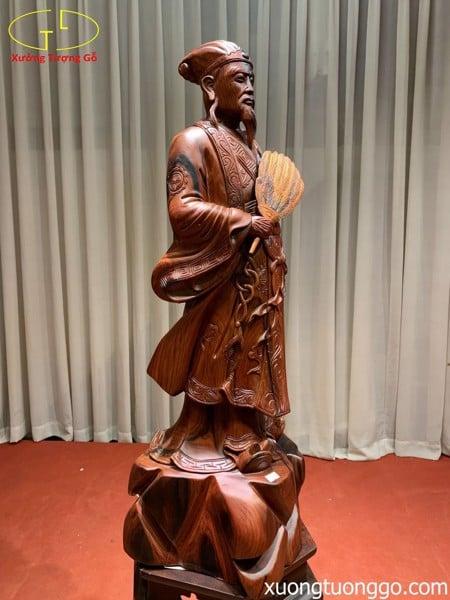 Tượng Khổng Minh gỗ trắc