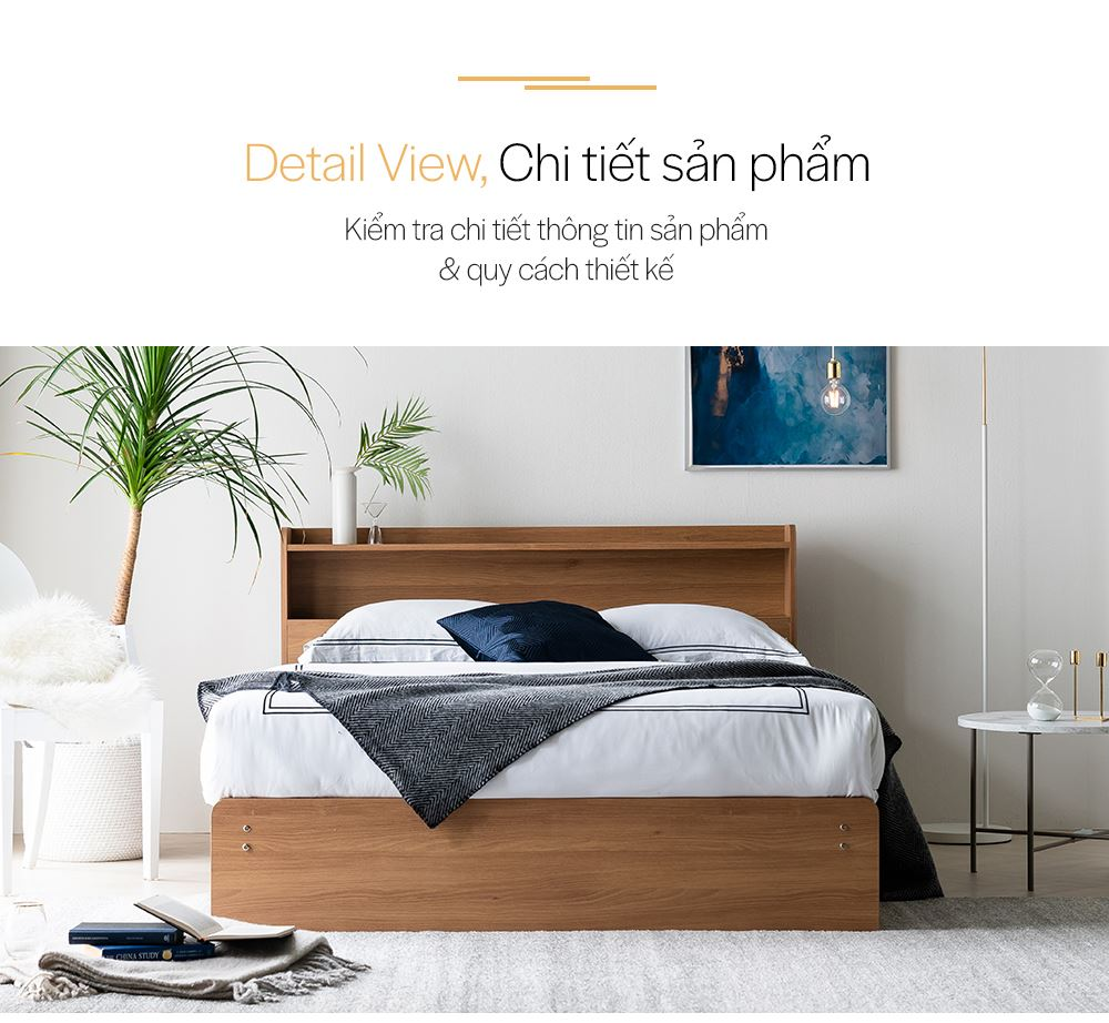 DB021 - GIƯỜNG NGỦ CAO CẤP SIZE QUEEN - CHI TIẾT 01