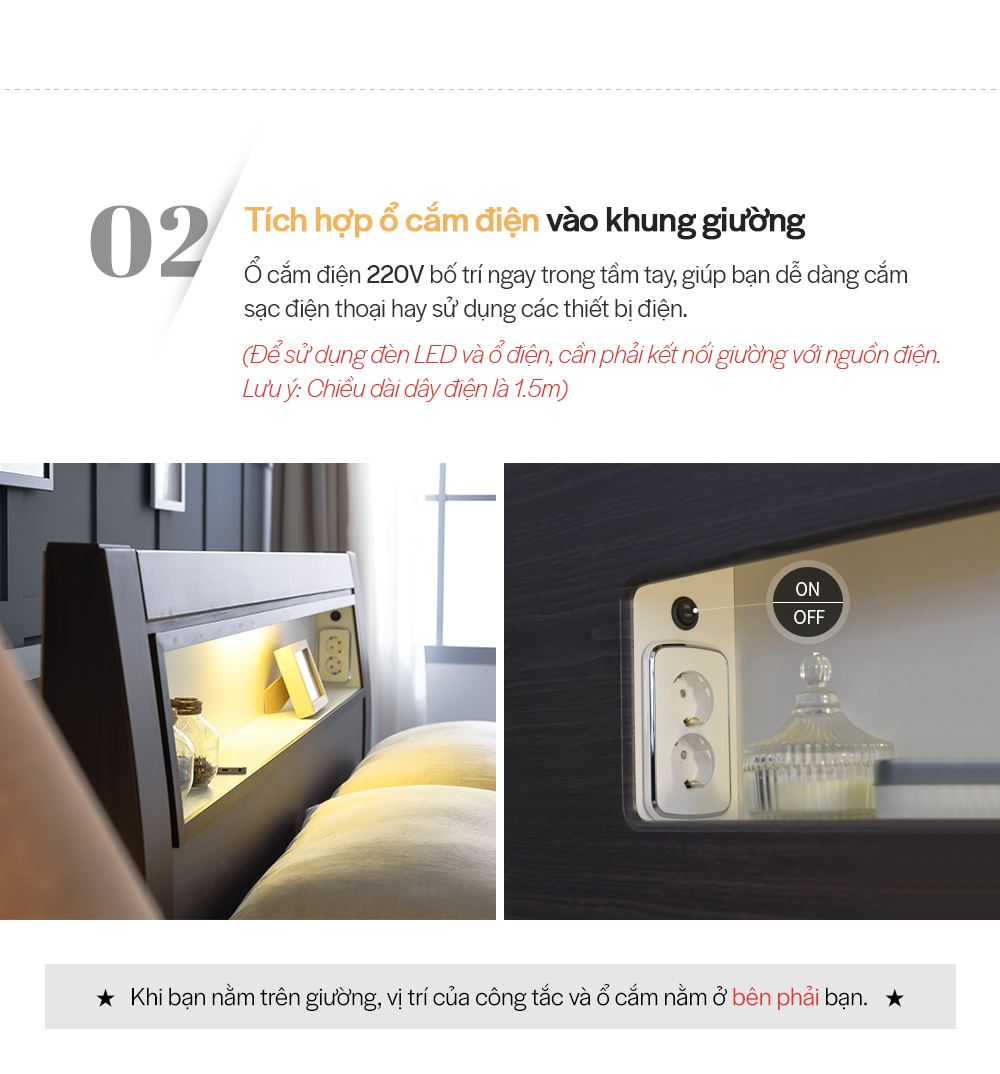 DB013A - GIƯỜNG LED SIZE QUEEN - CHI TIẾT 03