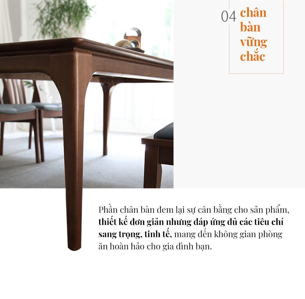 CC002 - BỘ BÀN ĂN CHOICE 2 GHẾ ĐƠN KÈM GHẾ DÀI - CHI TIẾT 05