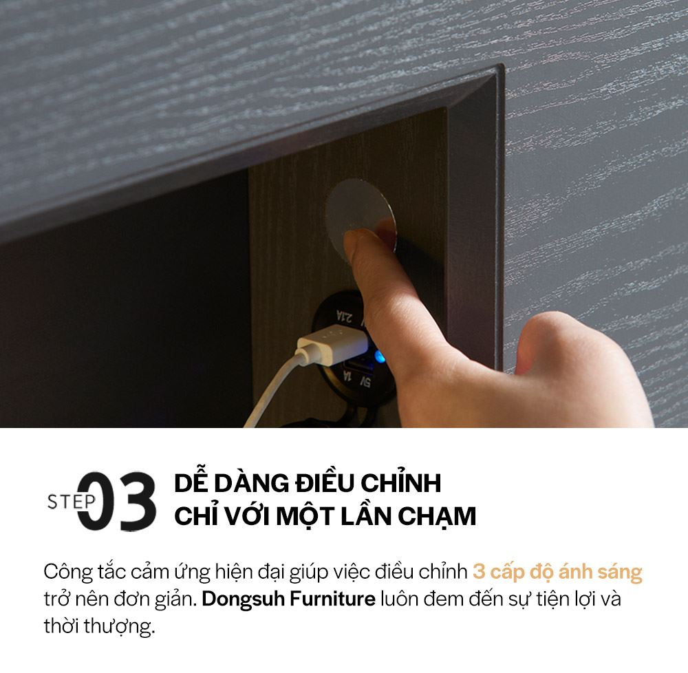 DB012B - GIƯỜNG LED SIZE QUEEN - CHI TIẾT 04
