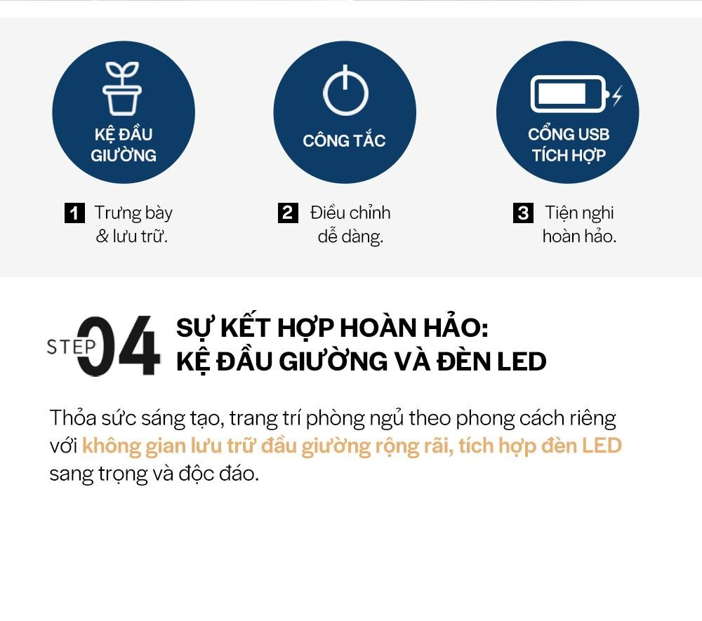 DB012B - GIƯỜNG LED SIZE QUEEN - CHI TIẾT 09