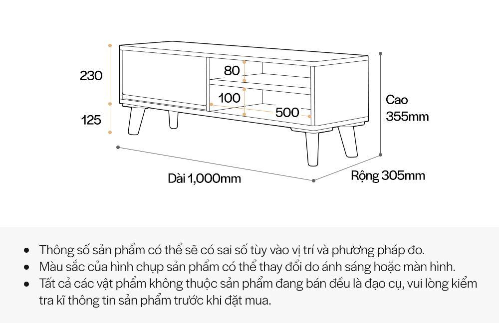 TS010 - KỆ TIVI GỖ MDF SCANDINAVIAN - THÔNG TIN SP