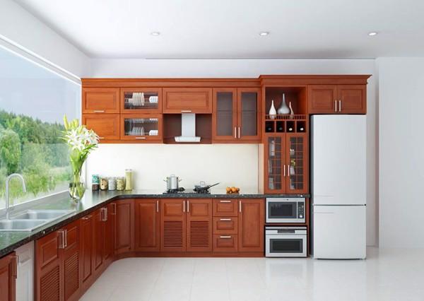 mẫu tủ bếp chữ l đẹp