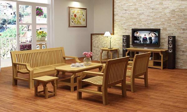 thanh lý bàn ghế gỗ phòng khách