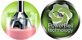 Đầu xay hình chuông xoắn Power Bell độc quyền của Braun - giúp xay nhuyễn thực phẩm
