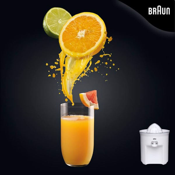 Thưởng thức những ly nước cam nguyên chất cho ngày dài năng động cùng máy ép hoa quả Braun CJ3050