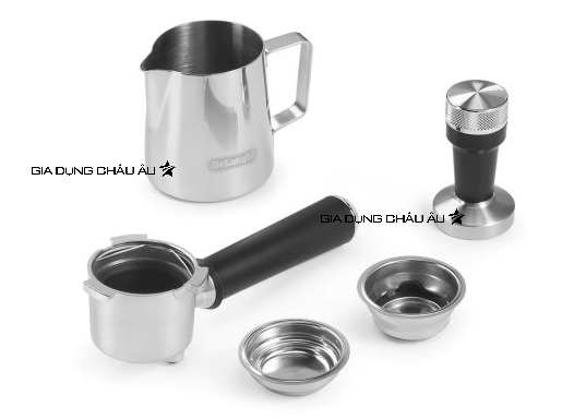 Các phụ kiện đi kèm của máy pha cà phê chuyên nghiệp Delonghi EC785.GY