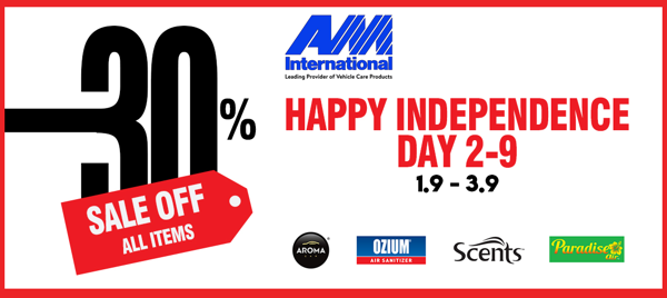 HAPPY SHOPPING – HAPPY INDEPENDENCE DAY: DISCOUNT 30% FOR ALL ITEMS