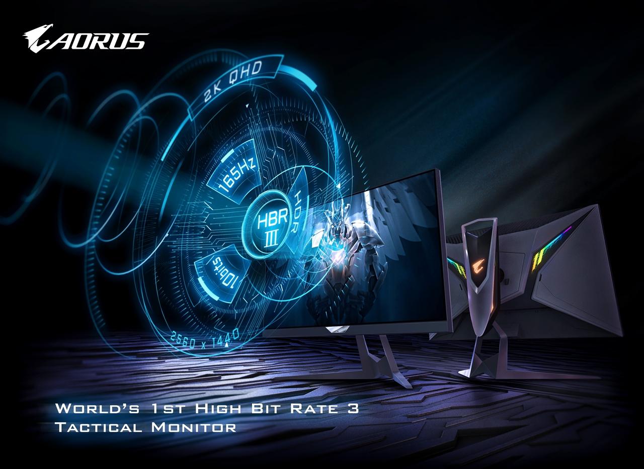 GIGABYTE công bố AORUS FI27Q-P – Màn hình chiến thuật High Bit Rate 3