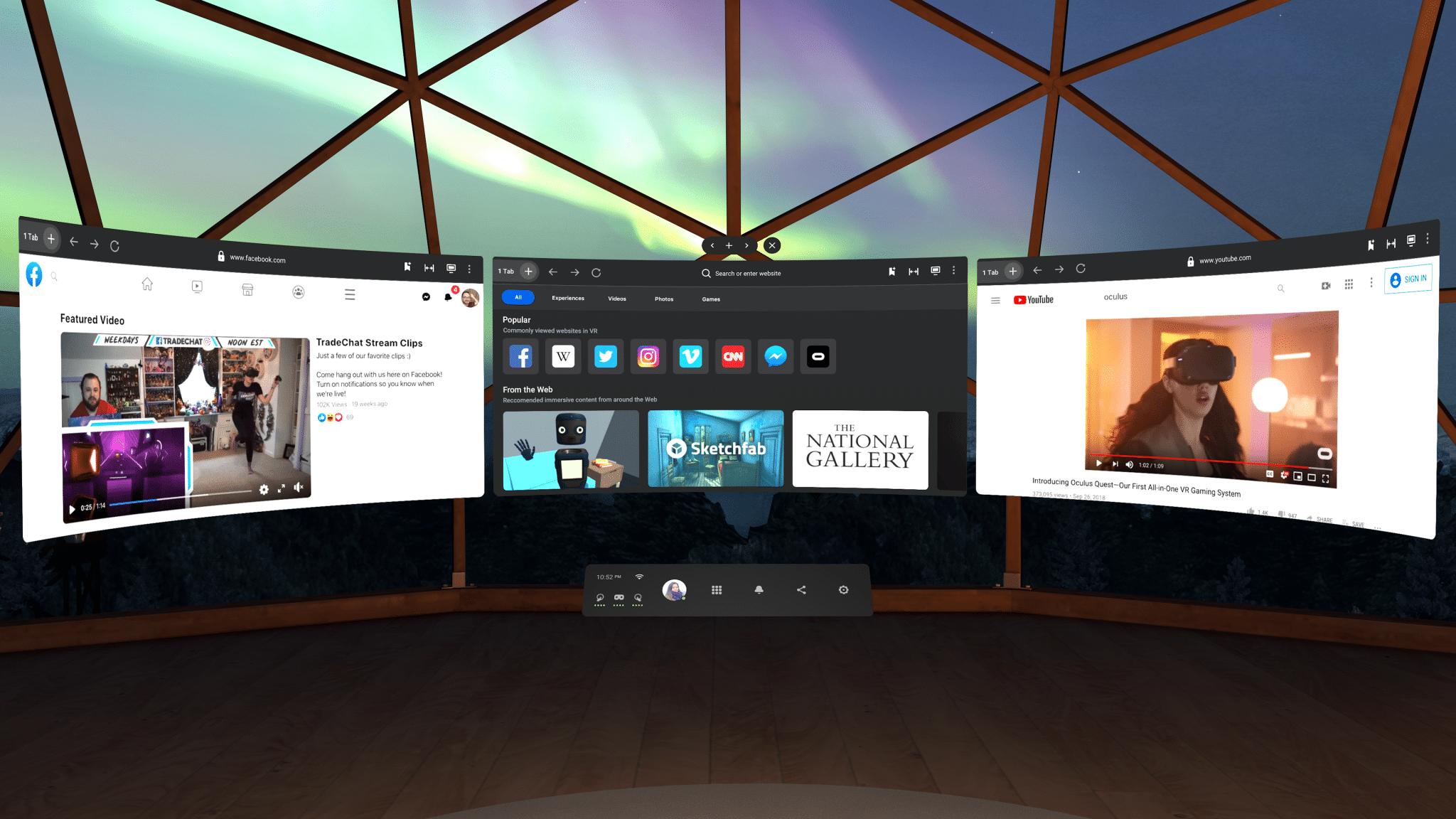 UI mới của Oculus Quest đã cho tải về trong bản cập nhật mới nhất