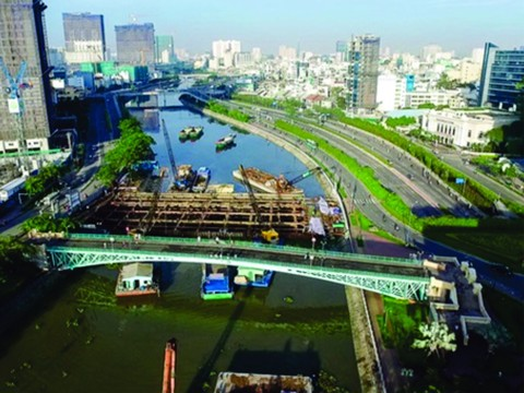 The tidal flood control project in Ho Chi Minh City