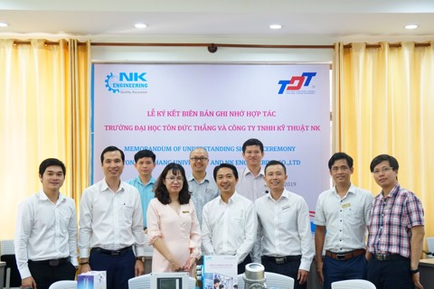 MOU SIGNING CEREMONY BETWEEN TDT UNIVERSITY AND NK ENGINEERING CO.,LTD