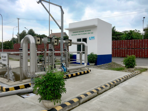 Wastewater quality monitoring system at Heineken Da Nang