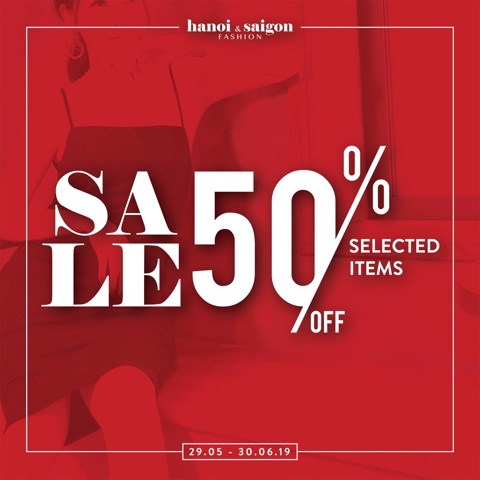 SALE 50% SLECTED ITEMS