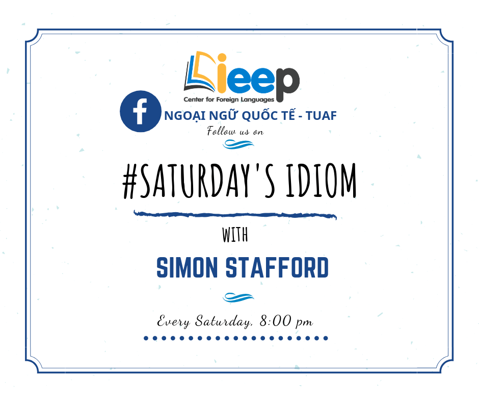Saturday's Idiom with Simon Stafford Episode 3