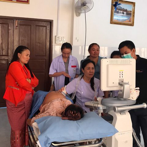 WORKSHOP GE HEALD ULTRASOUND VOLUSON P8 AT LUANGPRABANG PROVINCE HOSPITAL