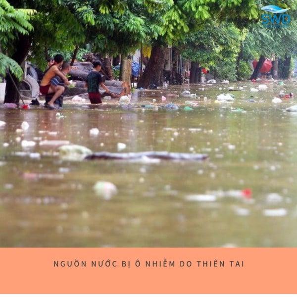 nước bị ô nhiễm do thiên tai