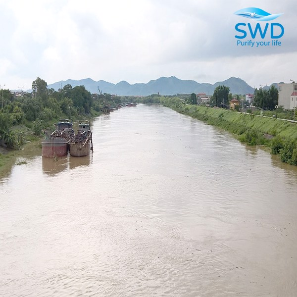 Nguồn nước sinh hoạt lấy từ sông