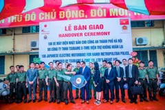 TSUBAME E-TIME VIETNAM COMPANY GAVE 100 E-BIKE FOR POLICES OF HANOI CITY