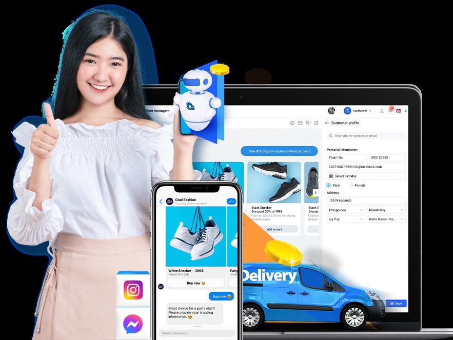 Tăng doanh thu từ Facebook Messenger với HaraFunnel