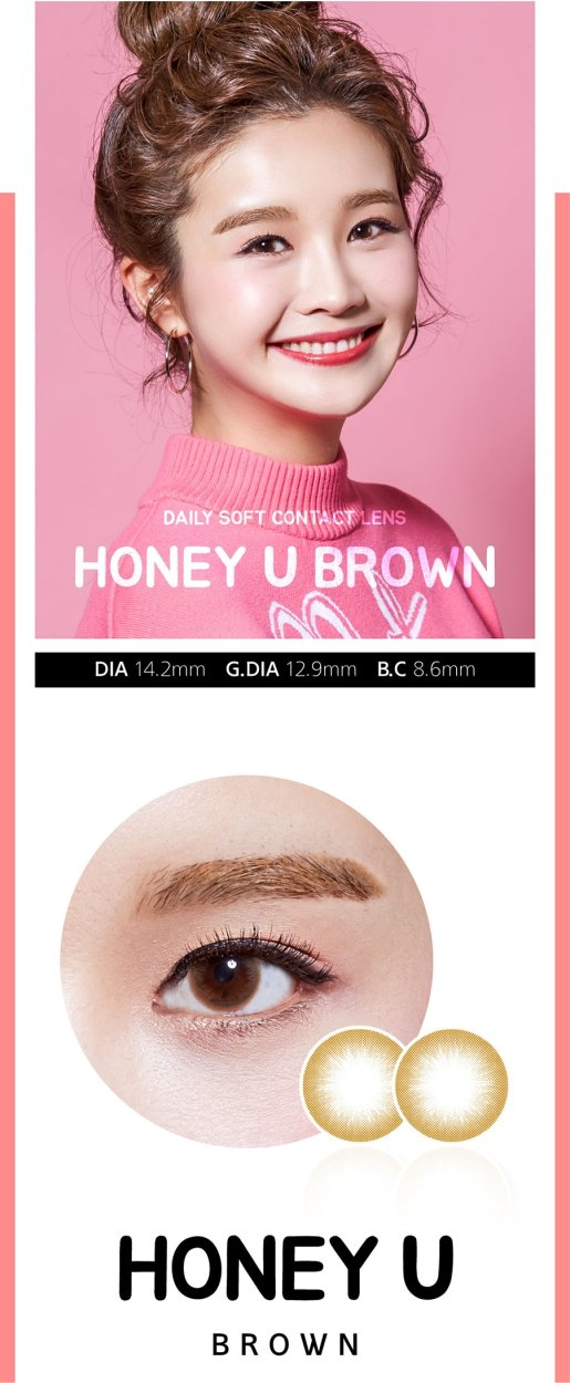 Lens 1 Tháng Honey U Brown