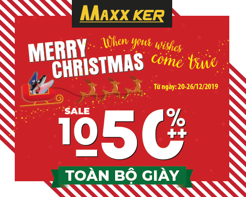 MERRY CHRISTMAS - WHEN YOUR WISHES COME TRUE - MAXXKER GIẢM 10-50%++ TOÀN BỘ GIÀY
