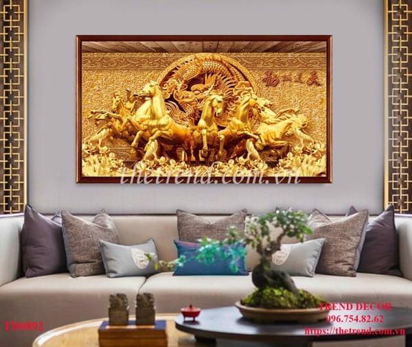 bộ tranh ngựa giả gỗ đẹp