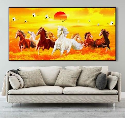 bức ảnh ngựa và hoàng hôn