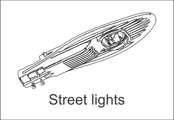 Đèn led chiếu đường