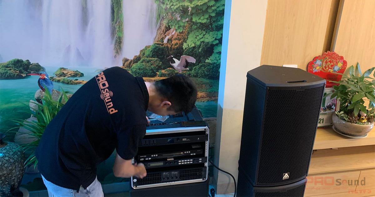 Lắp đặt dàn âm thanh Amate Nitid cho Anh khách ở Tây Mỗ - Nam Từ Liêm