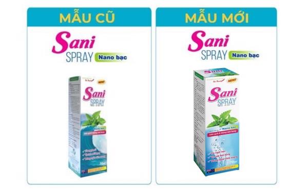 Thông báo cải tiến và thay đổi nhà sản xuất sản phẩm mới Dung dịch xịt vệ sinh mũi Sani Spray